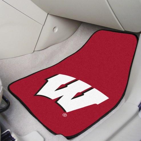 Wisconsin Badgers 2-Piece Carpet Car Mats