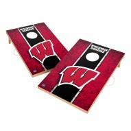 Wisconsin Badgers 2' x 3' Vintage Wood Cornhole Game