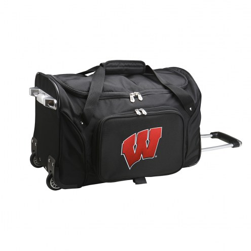 "Wisconsin Badgers 22"" Rolling Duffle Bag"