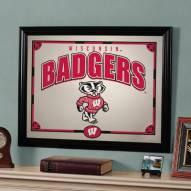 """Wisconsin Badgers 23"""" x 18"""" Mirror"""