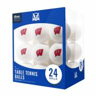 Wisconsin Badgers 24 Count Ping Pong Balls