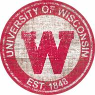 "Wisconsin Badgers 24"" Heritage Logo Round Sign"