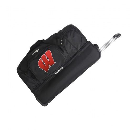 "Wisconsin Badgers 27"" Drop Bottom Wheeled Duffle Bag"