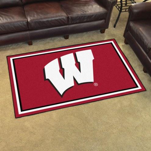 Wisconsin Badgers 4' x 6' Area Rug