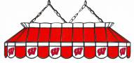 """Wisconsin Badgers 40"""" Stained Glass Pool Table Light"""