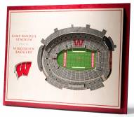 Wisconsin Badgers 5-Layer StadiumViews 3D Wall Art