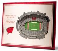 Wisconsin Badgers 5-Layer StadiumViews 3D Wall Art