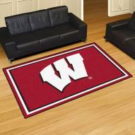 Wisconsin Badgers 5' x 8' Area Rug