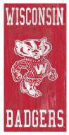 "Wisconsin Badgers 6"" x 12"" Heritage Logo Sign"