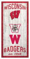 "Wisconsin Badgers 6"" x 12"" Heritage Sign"