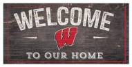 """Wisconsin Badgers 6"""" x 12"""" Welcome Sign"""