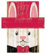 """Wisconsin Badgers 6"""" x 5"""" Easter Bunny Head"""