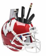 Wisconsin Badgers Alternate 1 Schutt Football Helmet Desk Caddy