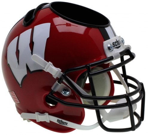 Wisconsin Badgers Alternate 2 Schutt Football Helmet Desk Caddy