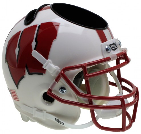 Wisconsin Badgers Alternate 3 Schutt Football Helmet Desk Caddy