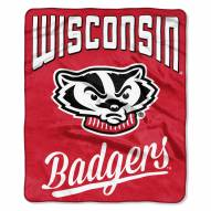 Wisconsin Badgers Alumni Raschel Throw Blanket