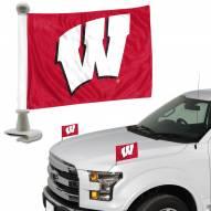 Wisconsin Badgers Ambassador Hood & Trunk Car Flag