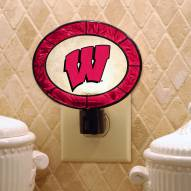 Wisconsin Badgers Art Glass Night Light