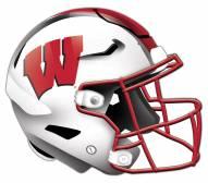 Wisconsin Badgers Authentic Helmet Cutout Sign