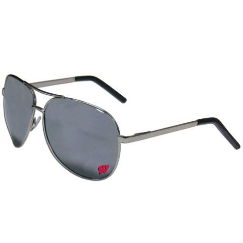 Wisconsin Badgers Aviator Sunglasses