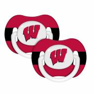Wisconsin Badgers Pacifiers - 2 Pack
