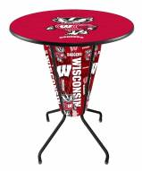 Wisconsin Badgers Indoor Lighted Pub Table