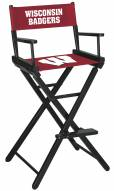Wisconsin Badgers Bar Height Director's Chair