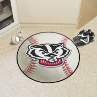 Wisconsin Badgers Baseball Rug