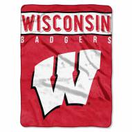 Wisconsin Badgers Basic Raschel Blanket