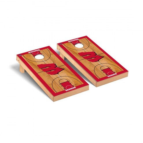 Wisconsin Badgers Basketball Court Cornhole Game Set