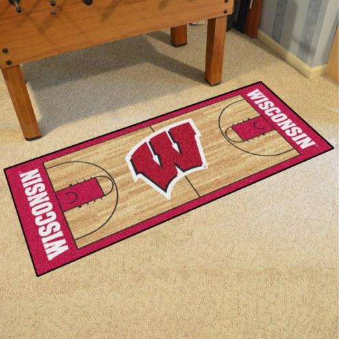 Wisconsin Badgers Basketball Court Runner Rug