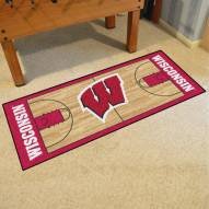 Wisconsin Badgers Basketball Court Runner Rug