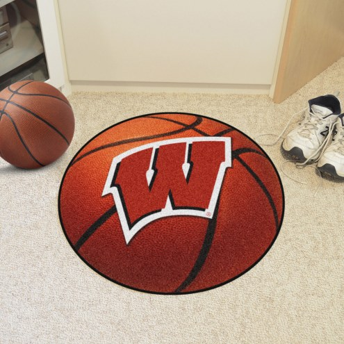Wisconsin Badgers Basketball Mat