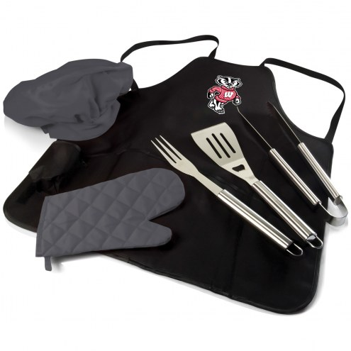 Wisconsin Badgers BBQ Apron Tote Set
