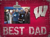 Wisconsin Badgers Best Dad Clip Frame