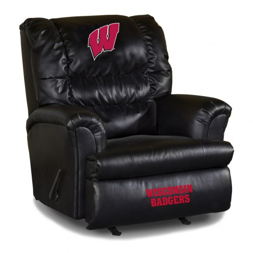 Wisconsin Badgers Big Daddy Leather Recliner