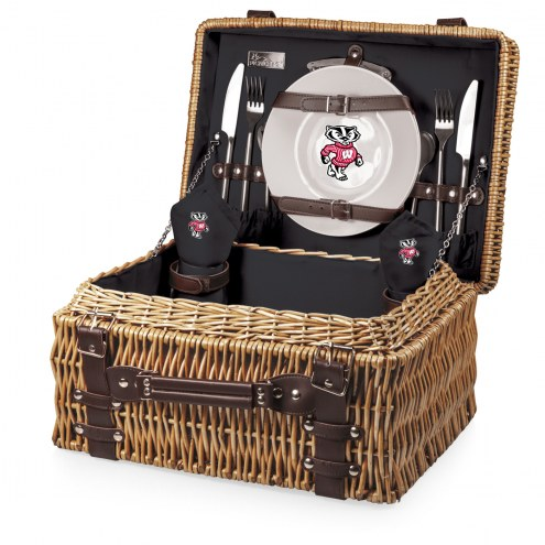 Wisconsin Badgers Black Champion Picnic Basket