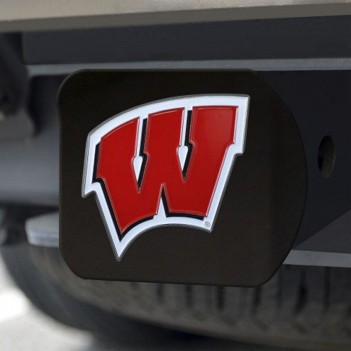 Wisconsin Badgers Black Color Hitch Cover