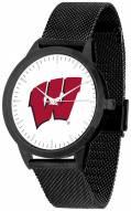 Wisconsin Badgers Black Mesh Statement Watch