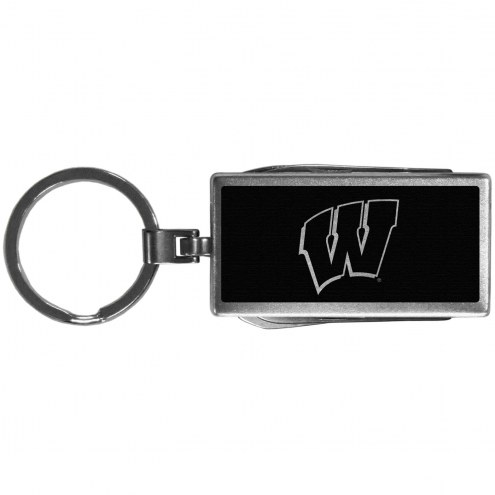 Wisconsin Badgers Black Multi-tool Key Chain