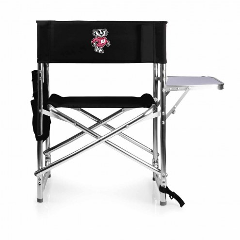 Wisconsin Badgers Black Sports Folding Chair