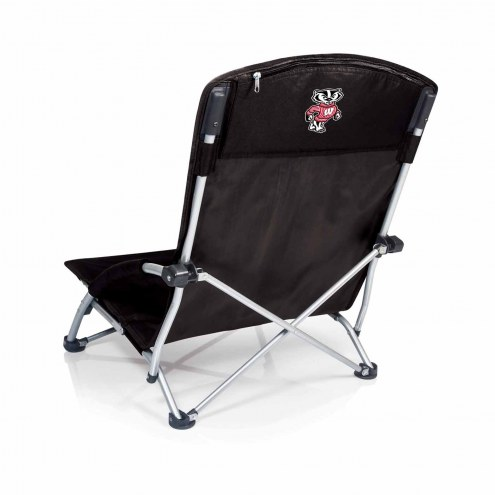 Wisconsin Badgers Black Tranquility Beach Chair