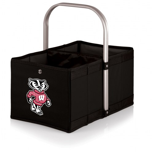 Wisconsin Badgers Black Urban Picnic Basket