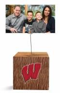 Wisconsin Badgers Block Spiral Photo Holder
