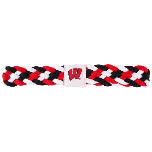 Wisconsin Badgers Braided Head Band