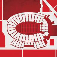 Wisconsin Badgers Camp Randall Stadium Print