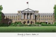 Wisconsin Badgers Campus Images Lithograph