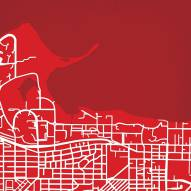 Wisconsin Badgers Campus Map Print