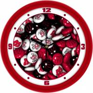 Wisconsin Badgers Candy Wall Clock