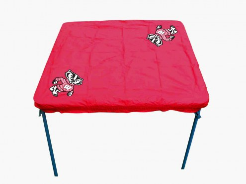 Wisconsin Badgers Card Table Cover